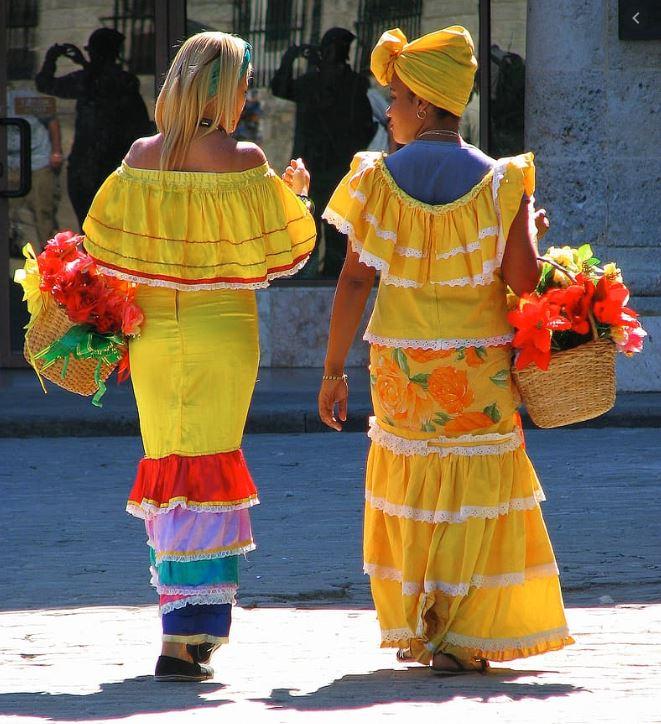 Traje tipico de cuba mujeres
