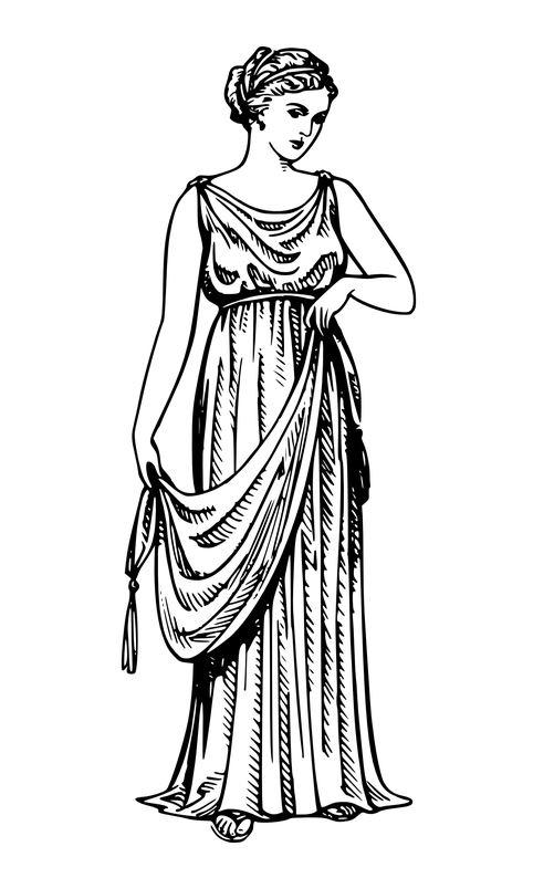 Vestimenta Griega Mujer