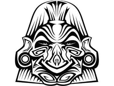 mascara azteca dibujo 3